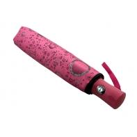 Automatyczna parasolka damska Tiros w krople, różowa