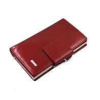 Klasyczny lakierowany portfel Nicole 60011 w kolorze czerwonym