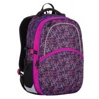 Plecak szkolny Bagmaster w fioletowo-różowy wzór