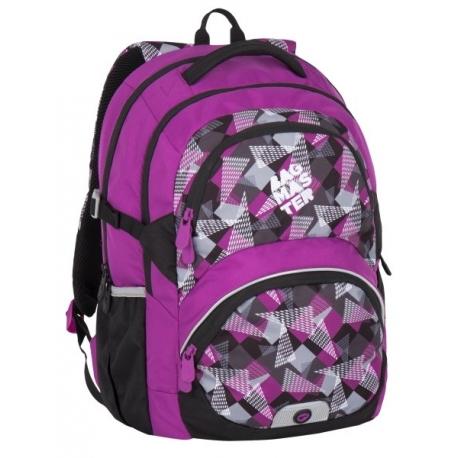 eb0e505e5e6f9 Lekki plecak szkolny Bagmaster w trójkąty i kwadraty