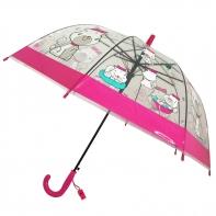 Dziecięca głęboka parasolka z gwizdkiem, kotki