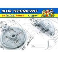d0858c42c364be Blok techniczny biały 10 kartek A4