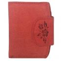 Damski portfel Always Wild ze skóry nubukowej, czerwony