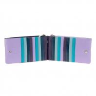 Skórzany portfel saszetka marki DuDu®, fioletowy + niebieski
