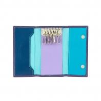 Etui na klucze marki DuDu®, fioletowy + niebieski