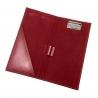 Receptownik (receptariusz) Orsatti R02 w kolorze czerwonym, skóra eko
