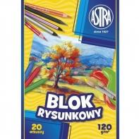 Blok rysunkowy Astra 20 białych kartek A4