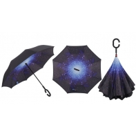 """Parasol odwrócony """"Revers"""" z motywem kosmosu"""