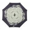 """Parasol odwrócony """"Revers"""" z motywem seledynowego kwiatu"""