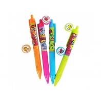 Pachnący zestaw 4 ekologicznych neonowych długopisów żelowych Smens, SCENTCO