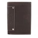 Super wyposażony portfel męski Always Wild ze skóry nubukowej, brąz