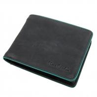 Męski poziomy portfel Pierre Cardin, czarny, skóra naturalna