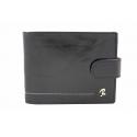 Skórzany portfel męski Rovicky, czarny