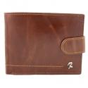 Skórzany portfel męski Rovicky w kolorze brązowym