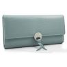 Elegancki długi portfel z eko skóry, niebieski