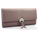 Elegancki długi portfel z eko skóry, różowy