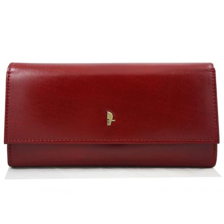 7d5bdfcda9584 Portfel damski Puccini MU-1680125 w kolorze czerwonym