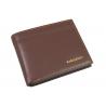 Portfel męski typu rozbudowana banknotówka z eko skóry, brązowy