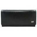 Damski duży portfel Rovicky , skórzany, czarny