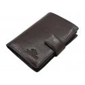 Skórzany portfel Wittchen 21-1-291, brązowy - kolekcja Italy
