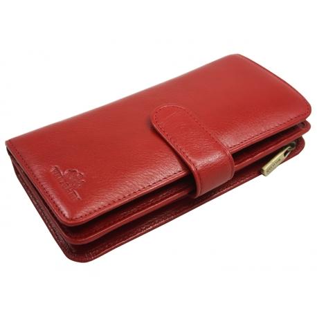 1b7f712dd154f Skórzany damski portfel Wittchen 21-1-028, czerwony - kolekcja Italy