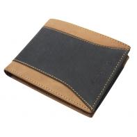 Męski skórzany poziomy portfel Pierre Cardin, czarny