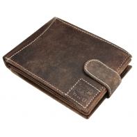 Poziomy portfel męski Always Wild ze skóry nubukowej, brązowy