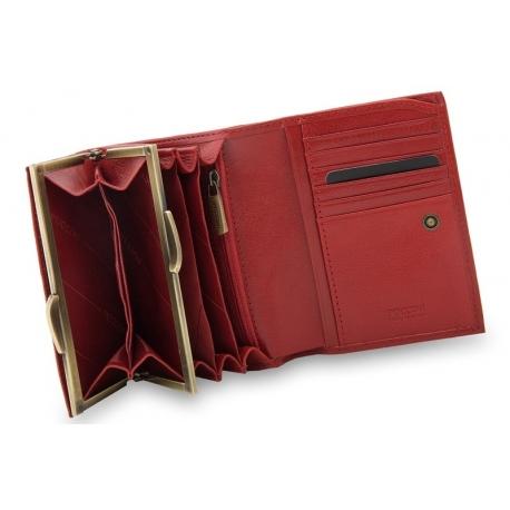 00204d0080c91 Portfel damski Puccini MU1709 w kolorze czerwonym
