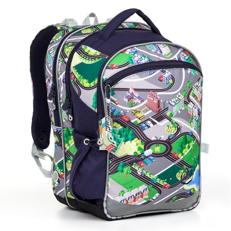 86dd9b047a87c Plecak szkolny trzykomorowy dla chłopca Topgal COCO 17001