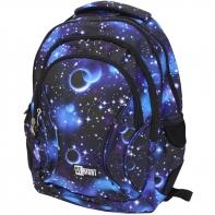 Trzykomorowy plecak szkolny St.Right 29 L, Cosmos BP2