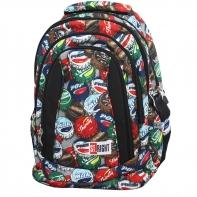 Trzykomorowy plecak szkolny St.Right 29 L, Bottle Caps BP4