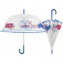 Głęboka przezroczysta parasolka w wakacyjny wzór