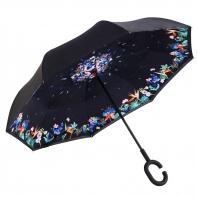"""Parasol odwrócony """"Revers"""" w kolorowe kwiatki"""