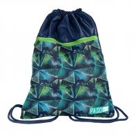 Worek na obuwie Paso Premium, zielono niebieski kalejdoskop