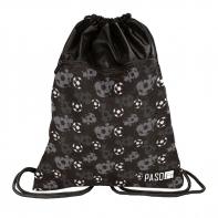 Worek na obuwie Paso Premium, czarny w piłki