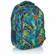 Plecak szkolny Astra Head HD-78, w niebiesko-zielone wzory
