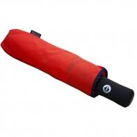 Automatyczna parasolka damska Stork, czerwona z lamówką
