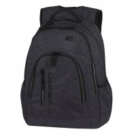 Młodzieżowy plecak szkolny CoolPack Mercator Plus 31 l, Snow Black
