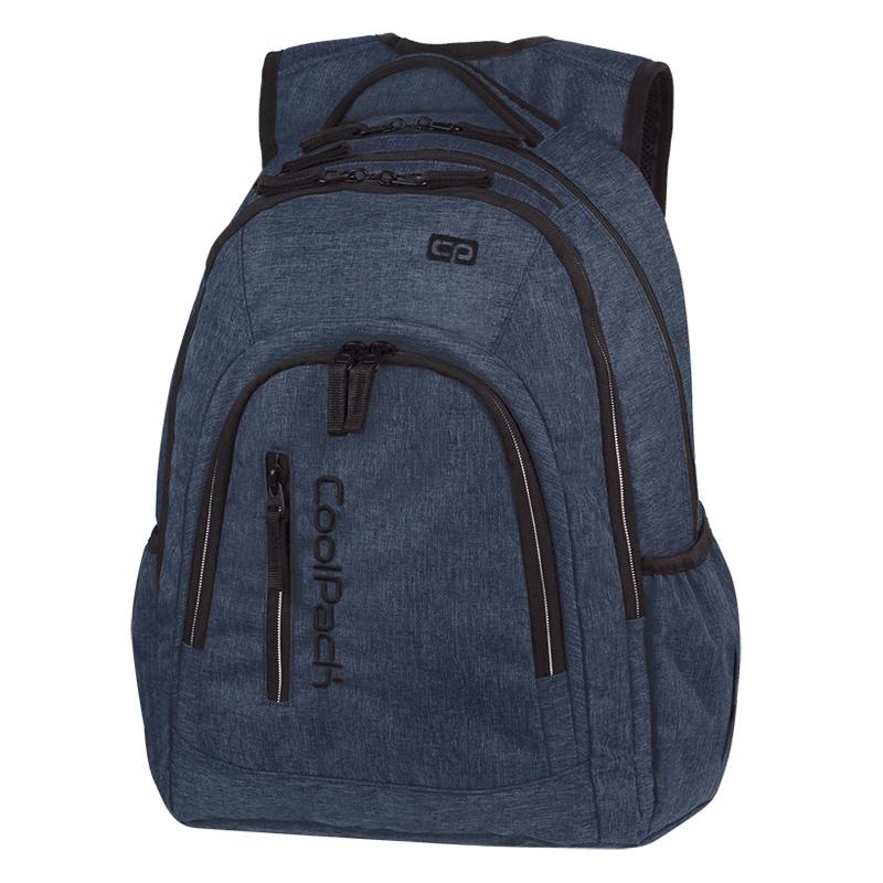 791b6b17440cf Młodzieżowy plecak szkolny CoolPack Mercator Plus 31 l, Snow Blue A320