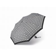 Ekskluzywna automatyczna parasolka Pierre Cardin, czarno-biały wzór