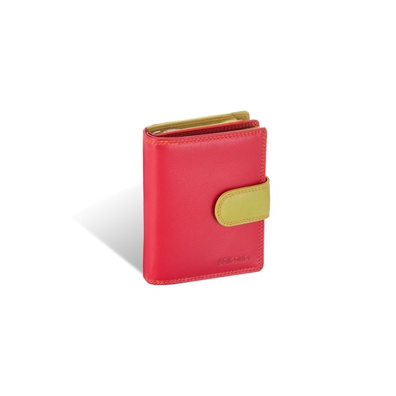 29425b7636fb5 Kolorowy niewielki portfel damski Valentini, czerwony, zielony + inne