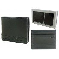 Zestaw prezentowy Samsonite: mały portfel męski typu banknotówka i etui na karty, skóra