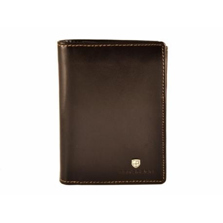 91c09b71f264e Pionowy skórzany portfel męski marki Peterson