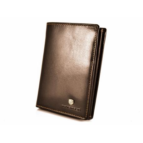 244234a334cc0 Pionowy skórzany portfel męski marki Peterson