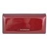 Długi portfel damski Peterson, czerwony, lakierowany