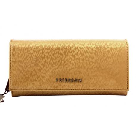 1cee2bfb1b8e6 Długi portfel damski Peterson, złoty