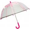 Dziecięca głęboka parasolka z odblaskową lamówką, różowa