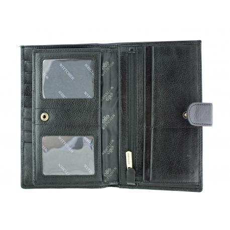 0b2c85931d4db8 Bardzo duży skórzany portfel męski Wittchen, czarny - kolekcja Italy