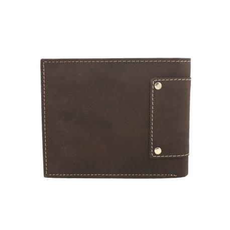 b41e6e9c60315 Poziomy portfel męski Always Wild ze skóry nubukowej - ciemny brąz