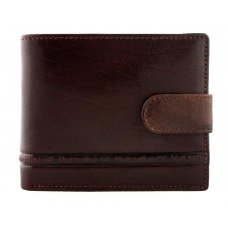 509092bacbbf3 Męski poziomy skórzany portfel Valentini z zapięciem